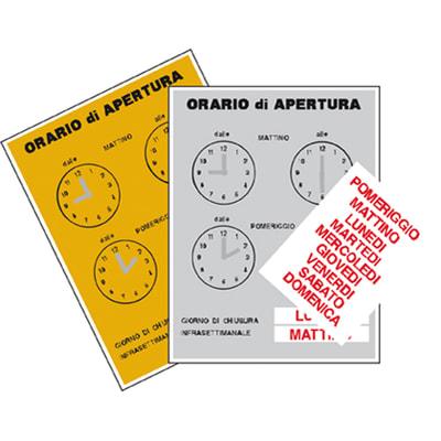 Targa orario prezzi e offerte online leroy merlin for Numeri adesivi leroy merlin