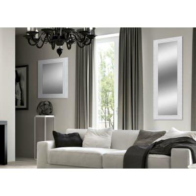 Specchio da parete rettangolare teresa bianco 60 x 145 cm - Specchio rettangolare da parete ...