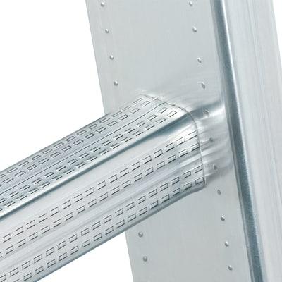Scala sfilo alluminio Gierre 2x9 gradini, per lavori fino a 5,3 m