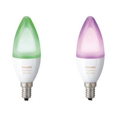 2 lampadine smart LED Philips Hue E14 =40W oliva multicolore (RGB) 220°