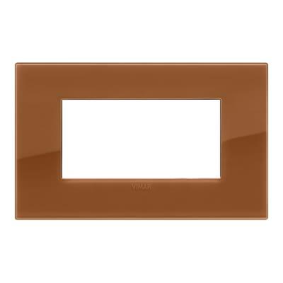 Placca 4 moduli Vimar Arké Reflex caramel