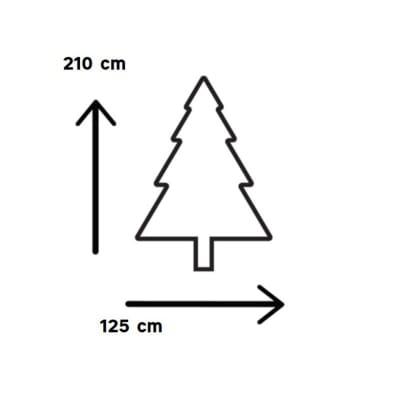 Albero di Natale artificiale Montgomery H 210 cm