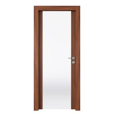 Porta da interno battente Alnitak noce nazionale 70 x H 210 cm sx