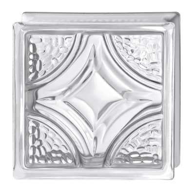 Vetromattone trasparente rombo 19 x 19 x 8 cm