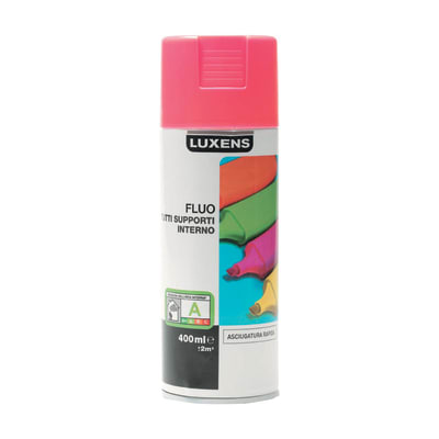 Smalto spray Fluo Luxens rosa fluorescente 400 ml