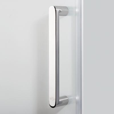 Doccia con porta battente e lato fisso Quad 77.5 - 79 x 77.5 - 79 cm, H 190 cm cristallo 6 mm serigrafato/silver
