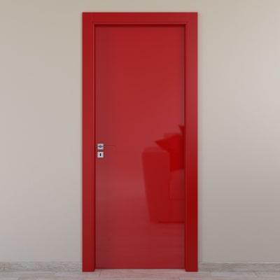 Porta da interno battente Massaua red rosso 70 x H 210 cm dx