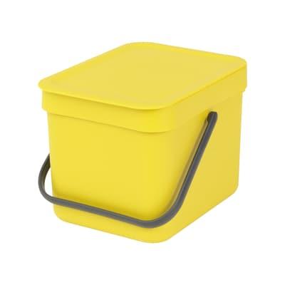 Pattumiera Sort & Go da incasso 6 L giallo