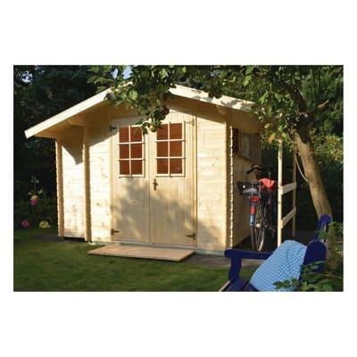 casetta in legno grezzo Oslo 4,24 m², spessore 19 mm