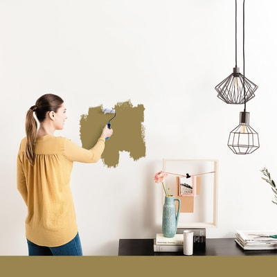 Tester idropittura murale Mano unica Oro Luxens
