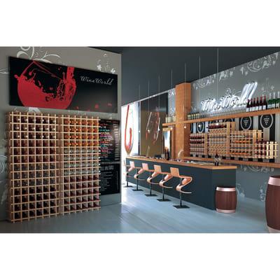 Scaffale legno portabottiglie 36 posti 6 ripiani l 75 x p 22 x h 75 cm prezzi e offerte online - Scaffale portabottiglie ...