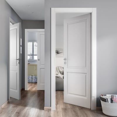 Porta da interno scorrevole Dubhe bianco 80 x H 210 cm reversibile