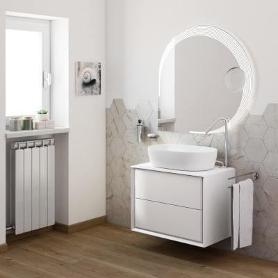 Mobile bagno Devon bianco L 70 cm