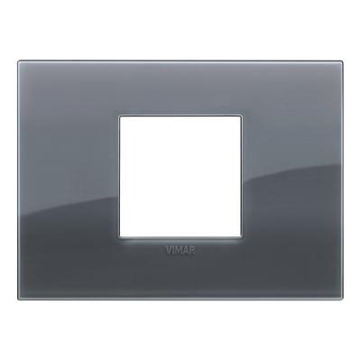 Placca 2 moduli Vimar Arké grigio fumé