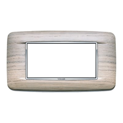 Placca 4 moduli Vimar Eikon  Round rovere bianco