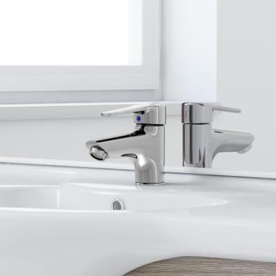 Mobile bagno Rimini rovere L 85 cm