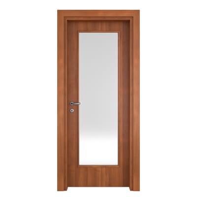Porta da interno battente Diamond noce biondo 60 x H 210 cm reversibile
