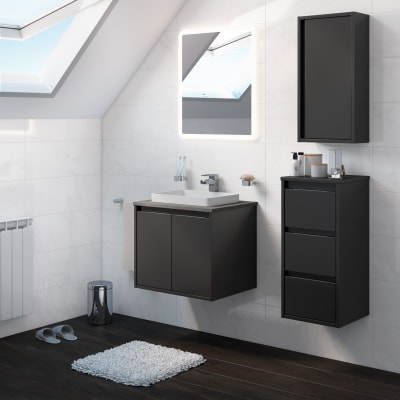 Mobile bagno Loto grigio antracite L 60 cm