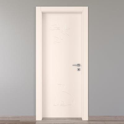 Porta da interno battente Catbird crema 90 x H 210 cm sx