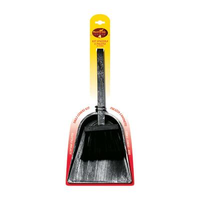 Kit Spazzola e paletta ferro nero 17 x 43 x 2,5 cm 608 g