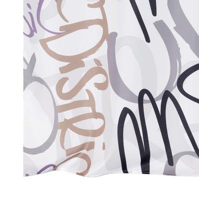 Tenda Graffiti bianco 140 x 280 cm