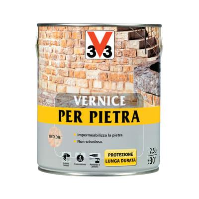 Vernice per pietre v33 trasparente 2 5 l prezzi e offerte for Vernice per plastica leroy merlin