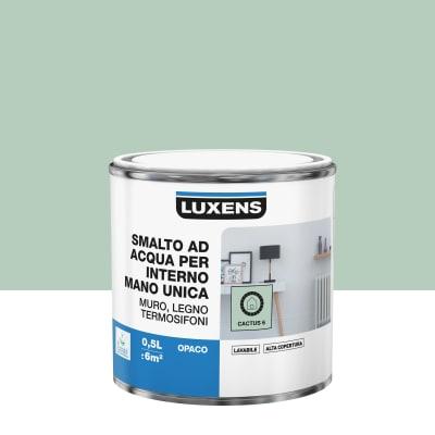Smalto manounica Luxens all'acqua Verde Cactus 6 opaco 0.5 L