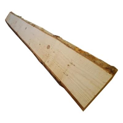 Tavola massello con corteccia legno L 200 x P 25 cm grezzo